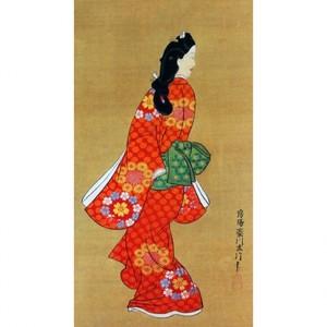 菱川師宣「見返り美人図」【窓飾り】