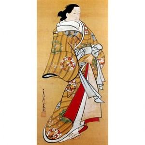 宮川長春「遊女立姿図」【窓飾り】