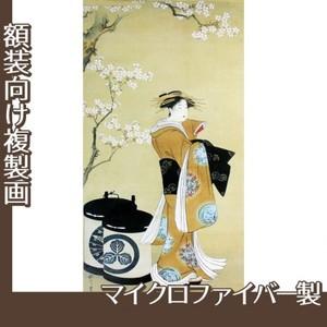 歌川豊春「桜下遊女図」【複製画:マイクロファイバー】