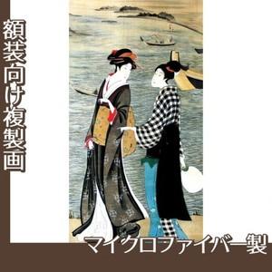 歌川豊広「河辺の納涼美人」【複製画:マイクロファイバー】