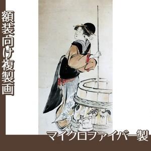 歌川豊国「美人若水汲み(部分)」【複製画:マイクロファイバー】