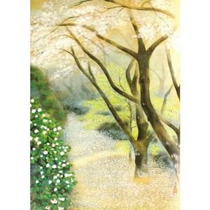 小茂田青樹「春庭」【窓飾り】