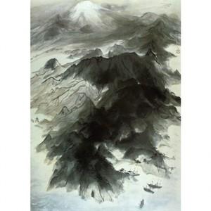 川端龍子「伊豆の国」【窓飾り】