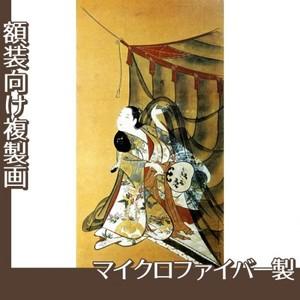 懐月堂安度「蚊帳美人図」【複製画:マイクロファイバー】