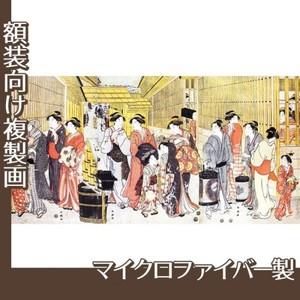 勝川春潮「新吉原江戸町の図」【複製画:マイクロファイバー】