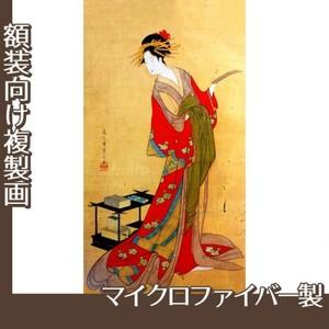 鳥文斎栄之「詠歌遊君図」【複製画:マイクロファイバー】