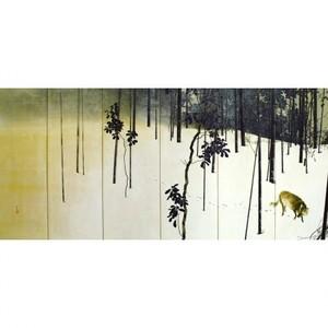 木島桜谷「寒月(左)」【額装向け複製画】