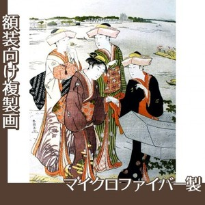 勝川春潮「三囲詣3」【複製画:マイクロファイバー】