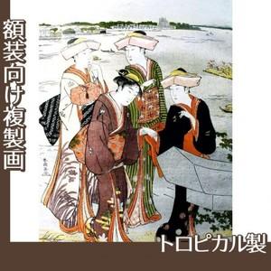 勝川春潮「三囲詣3」【複製画:トロピカル】
