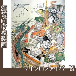 勝川春朗「七福神」【複製画:マイクロファイバー】