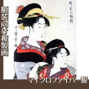 喜多川歌麿「竹芝二幅対」【複製画:マイクロファイバー】