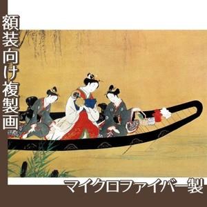 西村重長「舟中の遊女と禿図」【複製画:マイクロファイバー】