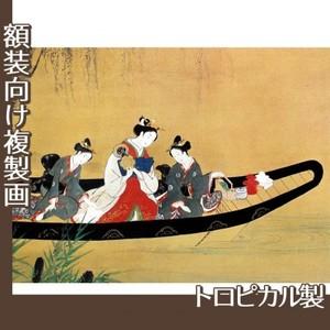 西村重長「舟中の遊女と禿図」【複製画:トロピカル】