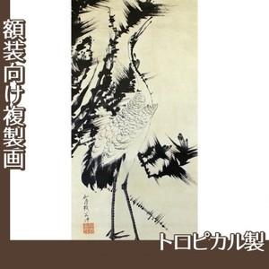 伊藤若冲「竹梅群鶴図2(双幅)」【複製画:トロピカル】