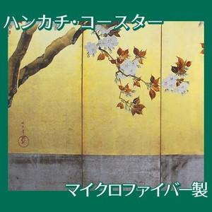 酒井抱一「桜図屏風(左隻)」【ハンカチ・コースター】