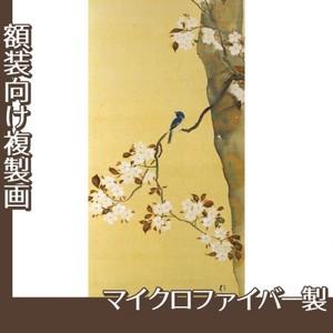 酒井抱一「桜に小禽図・柿に小禽図(右隻)」【複製画:マイクロファイバー】