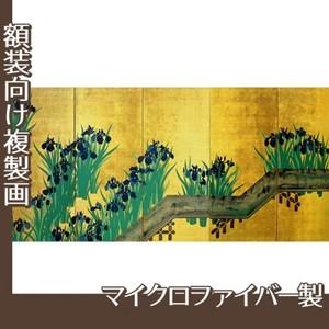 酒井抱一「八橋図屏風(右隻)」【複製画:マイクロファイバー】
