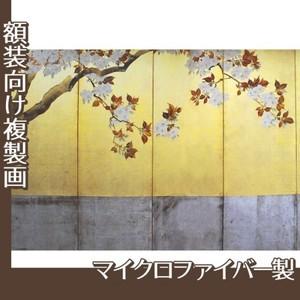 酒井抱一「桜図屏風(左隻)」【複製画:マイクロファイバー】