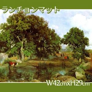 コロー「フォンテーヌブローの森の光景」【ランチョンマット】