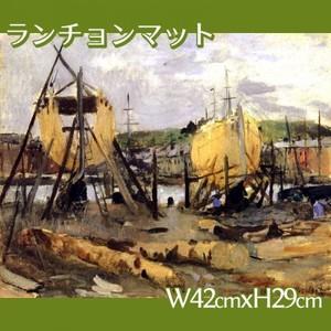 モリゾ「建造中の船」【ランチョンマット】