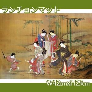 無款「見立竹林七賢図」【ランチョンマット】