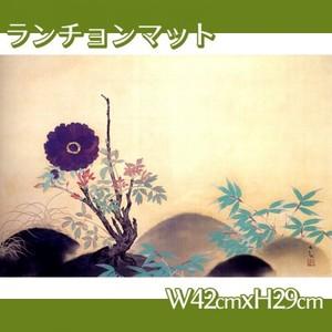 横山大観「寒牡丹」【ランチョンマット】