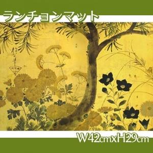 酒井抱一「槙に秋草図屏風(左隻)」【ランチョンマット】