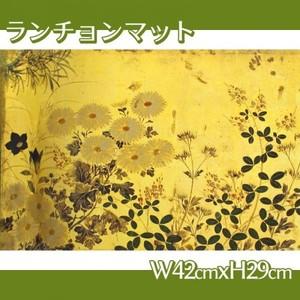 酒井抱一「槙に秋草図屏風(右隻)」【ランチョンマット】