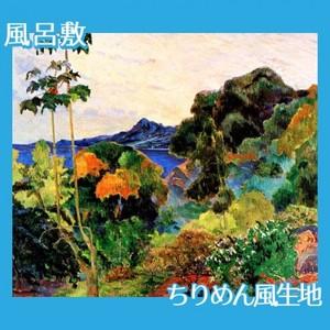ゴーギャン「マルティニック島の熱帯植物」【風呂敷】