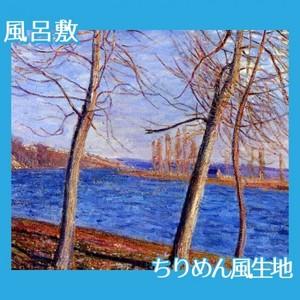 シスレー「ヴヌーの川岸」【風呂敷】