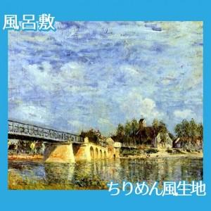 シスレー「サン=マメスの橋」【風呂敷】