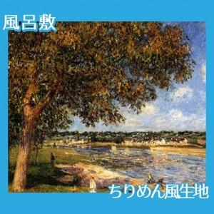 シスレー「トメリの草原のくるみの木」【風呂敷】