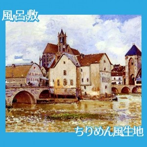 シスレー「モレの橋」【風呂敷】
