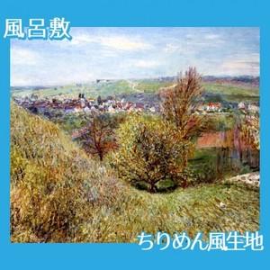 シスレー「春のモレの丘にて、朝」【風呂敷】
