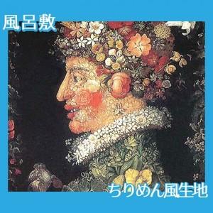 ジュゼッペ・アルチンボルド「春」【風呂敷】