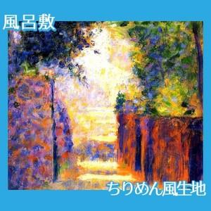 スーラ「春のモンマルトル:サン=ヴァンサン通り」【風呂敷】