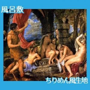 ティツアーノ「ディアナとアクタイオン」【風呂敷】