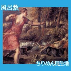 ティツアーノ「アクタイオンの死」【風呂敷】