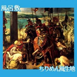 ドラクロワ「十字軍のコンスタンティノープル入城」【風呂敷】