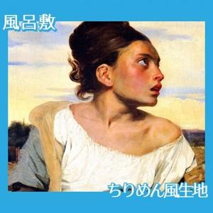ドラクロワ「墓場の孤児」【風呂敷】