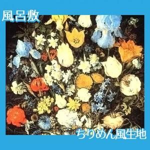 ブリューゲル「アイリスのある花束」【風呂敷】