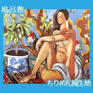 マティス「模様の地の上の装飾的人体」【風呂敷】