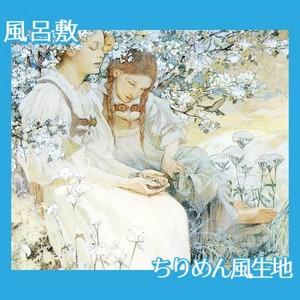 ミュシャ「真福八端(幸福なるかな、心の清き者)」【風呂敷】