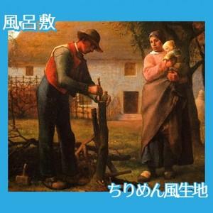 ミレー「接ぎ木をする人」【風呂敷】