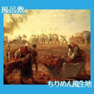 ミレー「夏:蕎麦の収穫」【風呂敷】