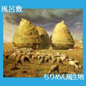 ミレー「秋:積み藁」【風呂敷】