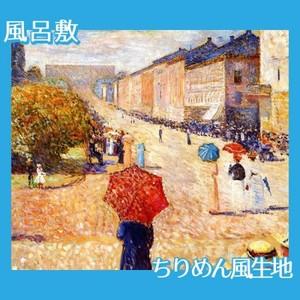 ムンク「オスロ カール・ヨハン通りの春の日」【風呂敷】