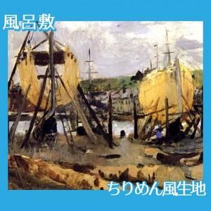モリゾ「建造中の船」【風呂敷】