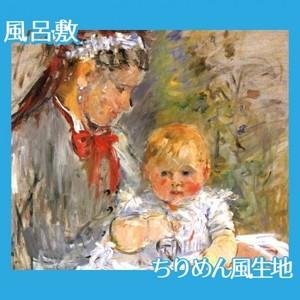 モリゾ「乳母と赤ちゃん」【風呂敷】