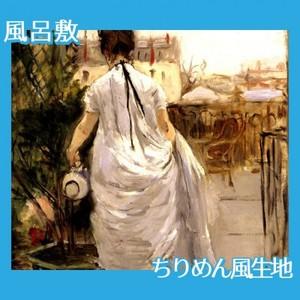 モリゾ「植木に水をやる女」【風呂敷】